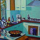 Blue Kitchen by Peter Johnson