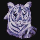 Purple tiger LIGHT   T SHIRT by Shoshonan