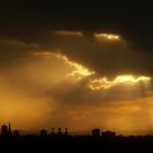 Crepuscular Rays, Sunset, Edinburgh by HJIrvine