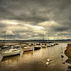 Boats at Cramond, Edinburgh by HJIrvine