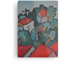 Out of the window - our street Metal Print