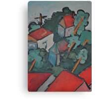 Out of the window - our street Canvas Print