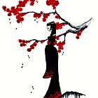 japanese plum blossom girl by GothicMoonlight