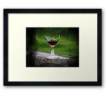 Wine Break Framed Print