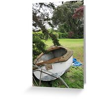 First there were house boats, now there are garden boats. Greeting Card