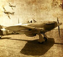Hurricane Scramble - 1940 by Colin  Williams Photography