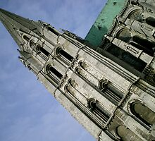 Sky High - Notre Dame Cathedral of Chartres, France by Britland Tracy
