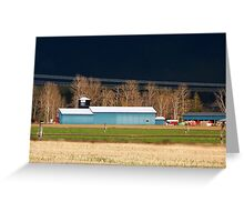 Stormy Montana Farm Greeting Card