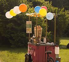 Ice cream cart, English Gardens, Munich by MikeyLee