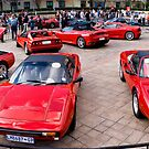 Ferrari Show Day - Super Wide Angle by RatManDude