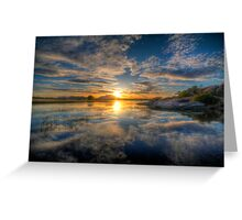 Sunset Reflect 1 Greeting Card