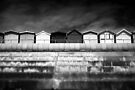 Small Huts, Big World BW by Andy Freer