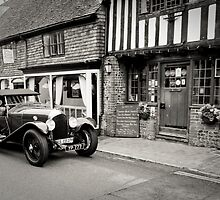 Classic Car No2: Ancient Alfriston Village, Sussex, UK. by DonDavisUK