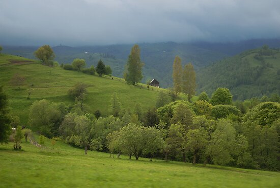 Lonely house in mountains, Romania, Transylvania Region by Antanas