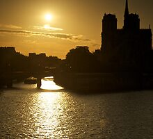 Notre Dame at Sunset by Bruce Alexander