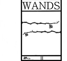 2 of Wands by Peter Simpson
