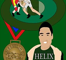 Wrestler's First Gold Medal by GFajardo