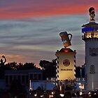 Dusk at the Munich Oktoberfest by David J Dionne