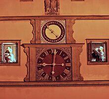Rothenburg - Ratstrinkstube by Night by David J Dionne