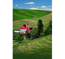 Palouse Red Barn Photographic Print