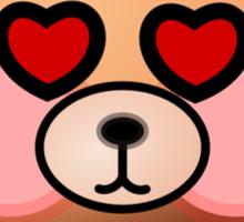 Hello Bear heart eyes T-shirt Sticker