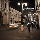 Prague Street at Night by eegibson