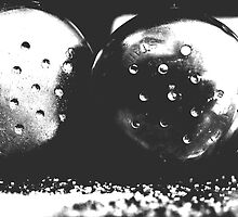 """salt and pepper - black and white"" by Justine Walke"