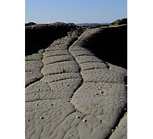 Crocodile skin...... not really, it's just rock! Photographic Print