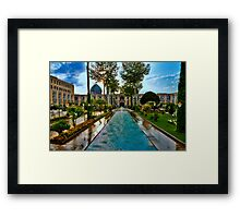 The Amazing Abbasi Hotel - Courtyard Fountains - Esfahan - Iran Framed Print