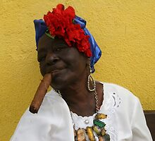 Cuban Woman with cigar by Mike Gregory
