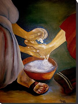 Foot-washing by Elizabeth Kendall