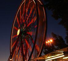 Ferris Wheel at Sundown by ShootinMickey