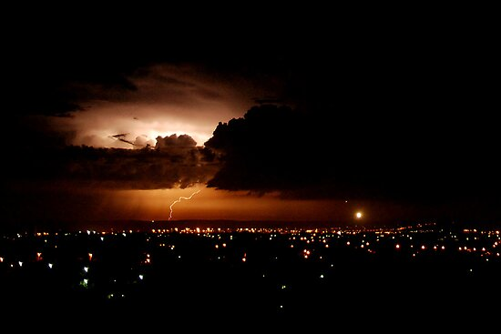 Another lightning shot - Perth, Western Australia (24-3-2010) by Marita Bird