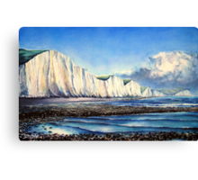 Sisters at low water Canvas Print