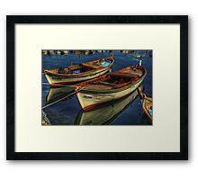 Barche a Karaburun Framed Print