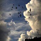 Evening flight over Paris by Laurent Hunziker