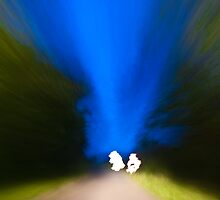 Ghosts on a breton road by Michel-Philippe Lehaire