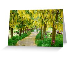 Follow the Yellow Floral Road... Greeting Card
