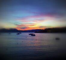 Skye at night, Santa Ponsa bay. by Tigersoul