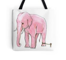 Pink Elephant Tied Up Tote Bag