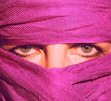 """Pink Pashmina"" (self portrait) by Justine Walke"
