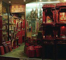 Lacquerware shop, Hong Kong by Maggie Hegarty
