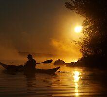 Kayak in the Mist by Debby1