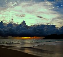 Dramatic Sunset on Intendance Beach by Swesen