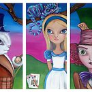 Alice in Wonderland Triptych by Jaz by Jaz Higgins