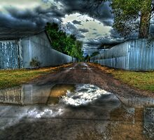 Puddlesky: backstreets of Bourke, NSW by Daveylad