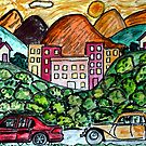 Sunday Drive    For Drawing Day 2010 by Monica Engeler