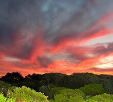 flaming sky by lorindamin