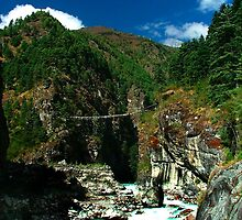 Highest suspension Bridge in Nepal by Pascal Lee
