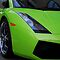 Green Lamborghini by Phil Campus
